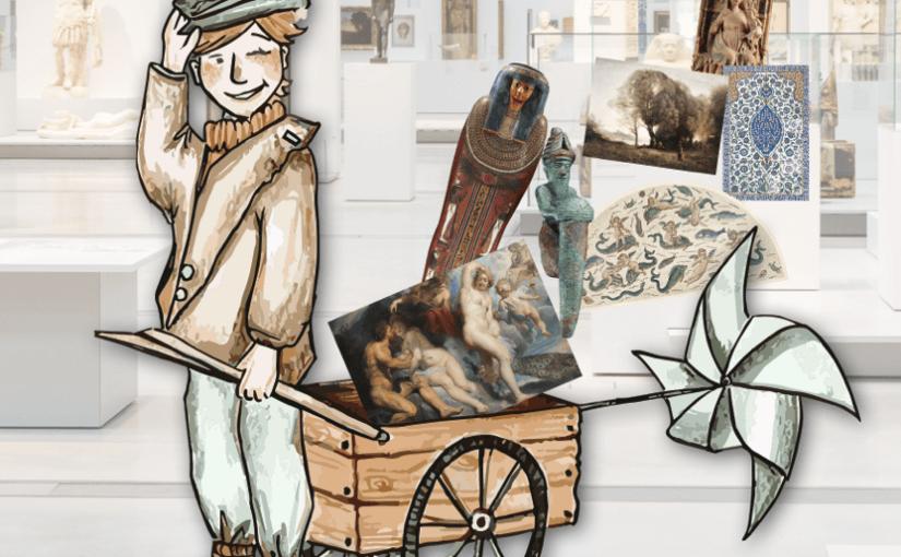 Jeu pour les enfants au Louvre Lens